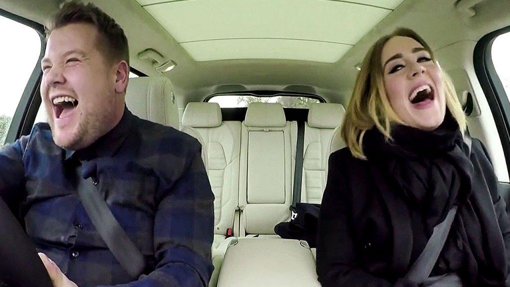 carpool karaoke with James Corden and Adele