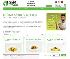 Flexfit Meals Lifestyle Choice Menu